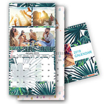 2 x 30cm x 30cm Double Personalised Calendar incl Delivery