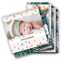 5 x 30cm x 30cm Double Personalised Calendar incl Delivery