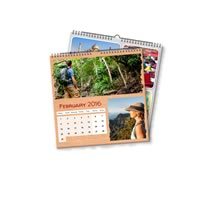 2 x 21cm x 21cm Personalised Calendar incl Delivery