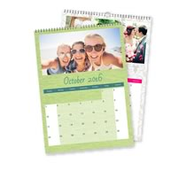 2 x A3 Portrait Personalised Calendar incl Delivery