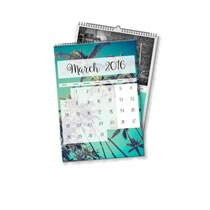 2 x A4 Portrait Personalised Calendar incl Delivery