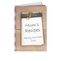 80 Page Hardcover A4 Portrait Recipe Book incl Delivery