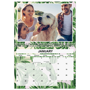 Personalised Calendar<br>A4 Double